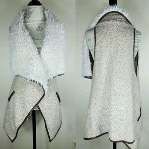 3 Sisters Faux Shearling Vegan Vest Size S/M